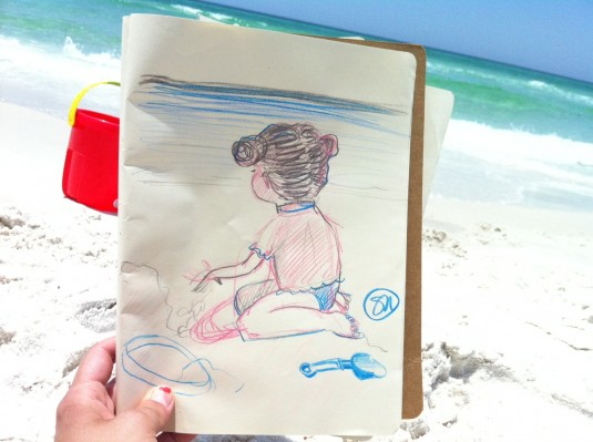 HJ beach drawing