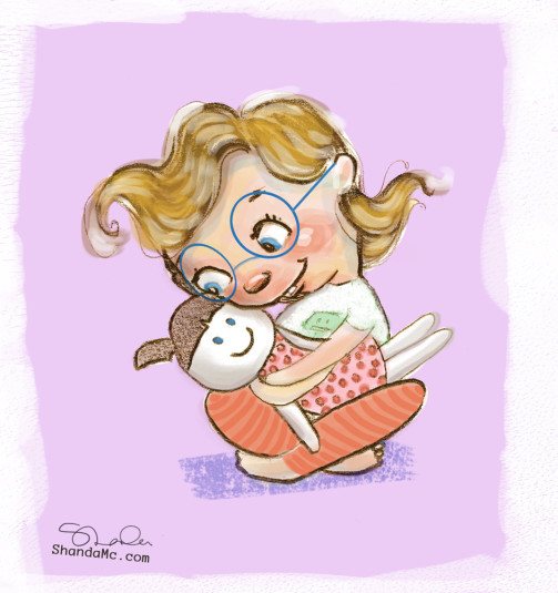 charlie_hugging_doll