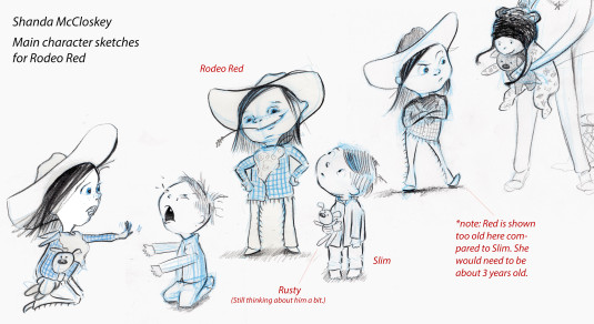 Characters by Shanda McCloskey, from mentorship with Loraine Joyner, art director of Peachtree Press.