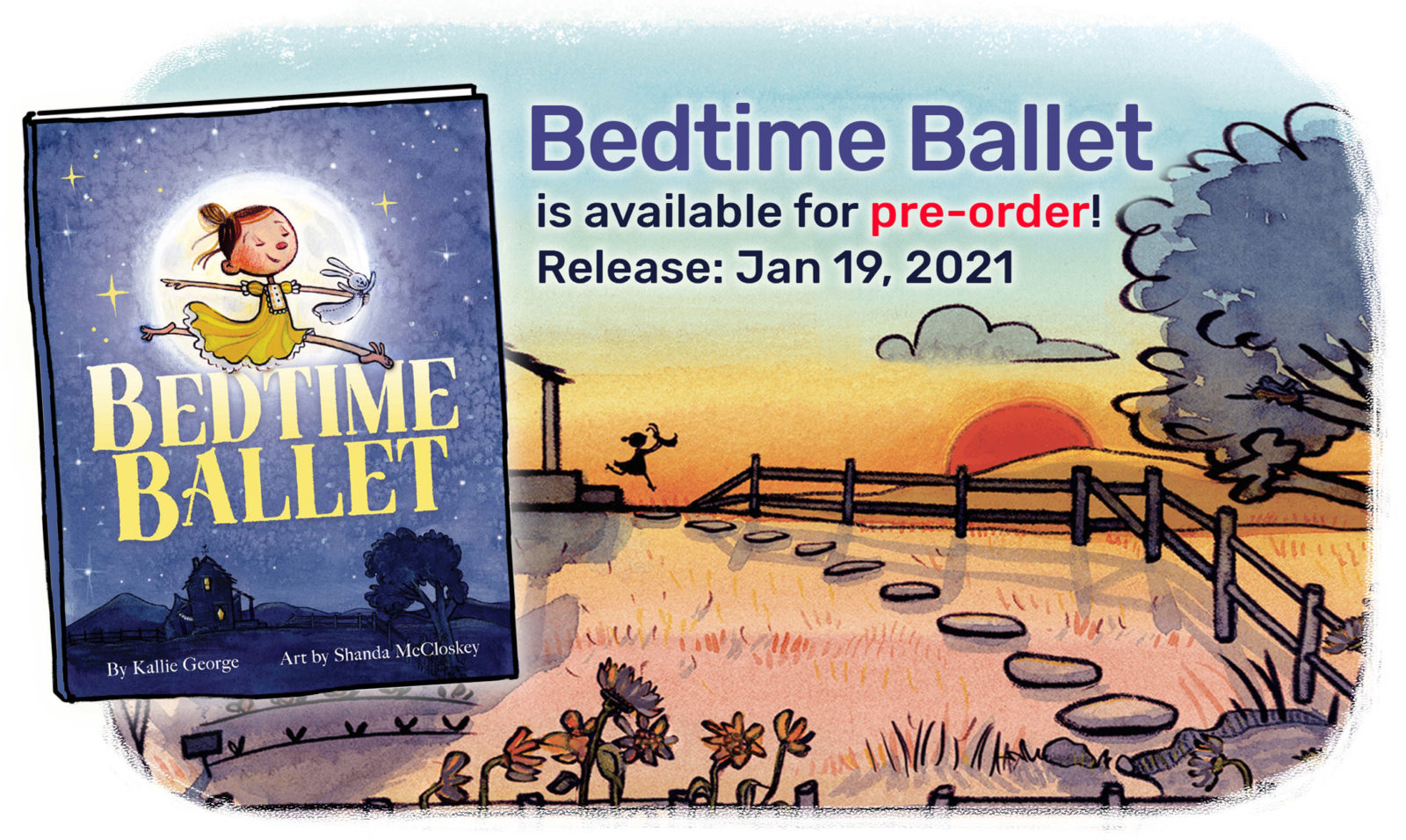 Bedtime Ballet is available for pre-order! Release: Jan 19, 2021